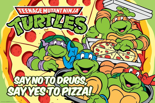 Teenage Mutant Ninja Turtles Pizza Mounted Wall Hanger
