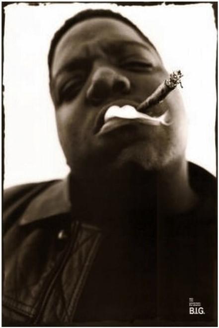 Notorious B.I.G. Smoking Blockmount Wall Hanger