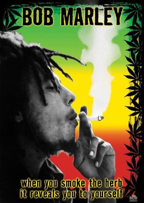 Bob Marley Herb Blockmount Wall Hanger