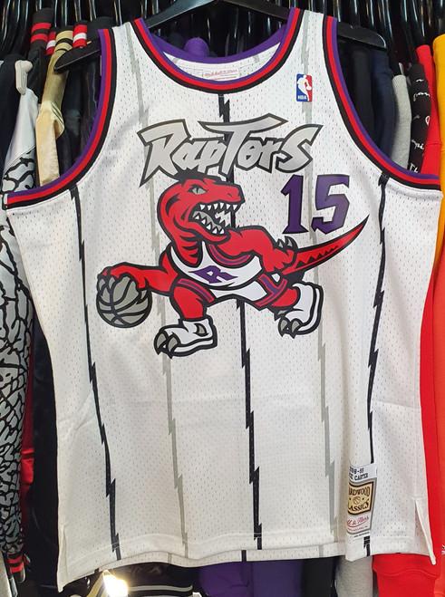 Toronto Raptors Vince Carter 15 White Mitchell & Ness Swingman Jersey