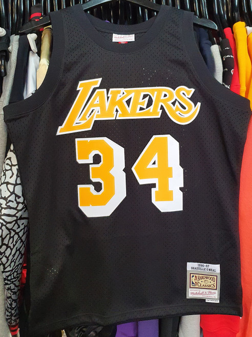 Los Angeles Lakers Shaquille O'Neal 34 Tonal Mitchell & Ness Swingman Jersey