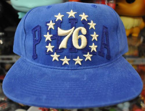 Philadelphia 76ers Deadstock Fit Mitchell & Ness Blue Snapback Hat