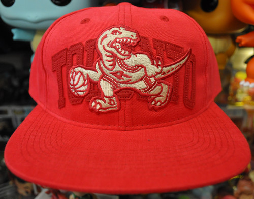 Toronto Raptors Deadstock Fit Mitchell & Ness Red Snapback Hat