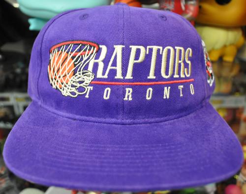 Toronto Raptors Hoop Flat Brim NBA Mitchell & Ness Purple Snapback Hat