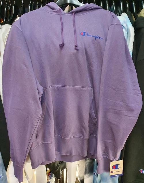 Champion Reverse Weave Vintage Dye Purple Hoodie Pullover Jersey