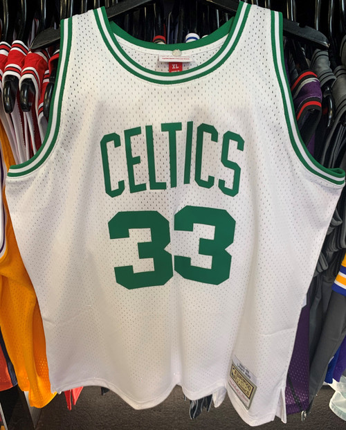 Boston Celtics Larry Bird 33 White Mitchell & Ness Swingman Jersey