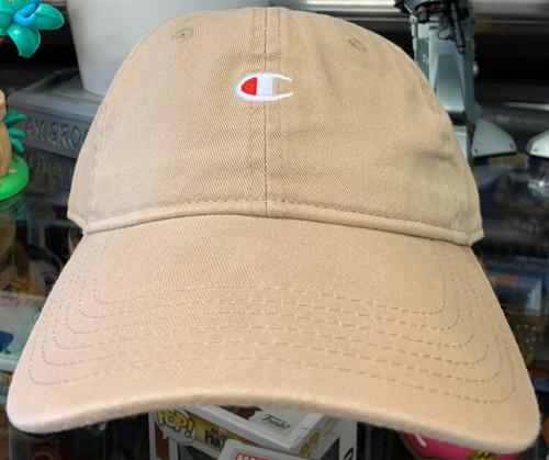 Champion Logo Khaki Relaxed Strapback Dad Hat