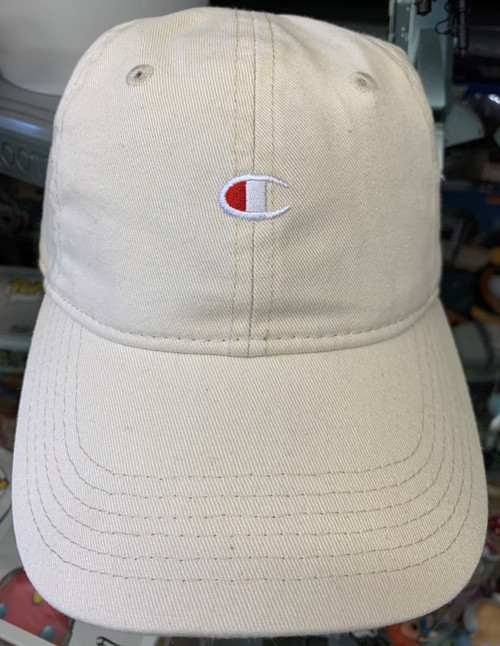 Champion Logo Chalk White Relaxed Strapback Dad Hat