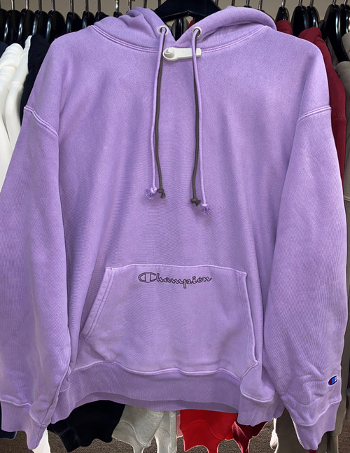 Champion Reverse Weave Terry Cloth Lavender Field Hoodie Pullover Jersey
