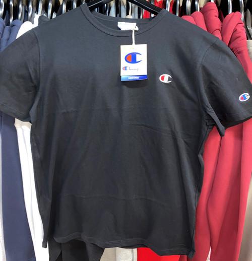 Champion Heritage Small Logo Black T-Shirt