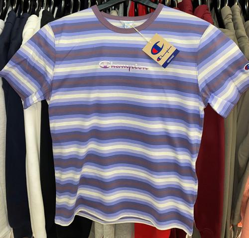 Champion Heritage Stripe Purple T-Shirt