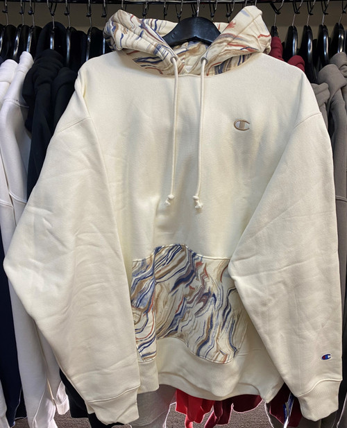 Champion Reverse Weave Marble Hoodie Pullover Jersey