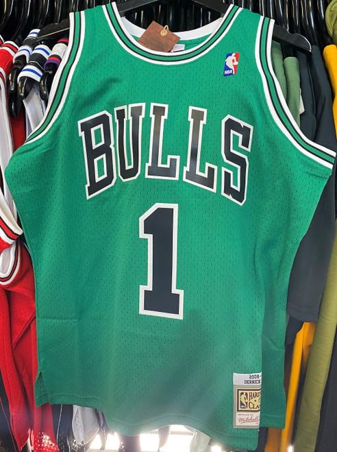 Chicago Bulls Derrick Rose 1 Saint Patrick's Day Green Mitchell & Ness NBA Swingman Jersey