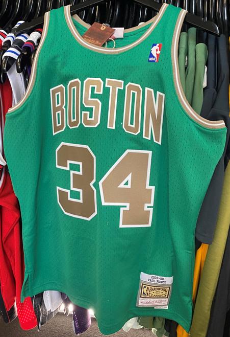 Boston Celtics Paul Pierce 34 Saint Patrick's Day Green Mitchell & Ness NBA Swingman Jersey