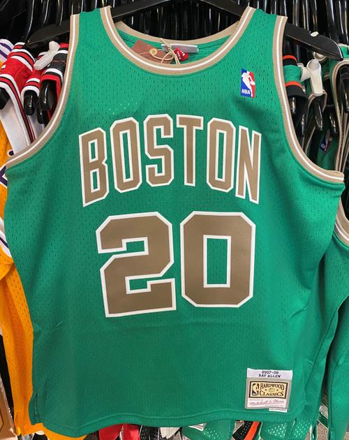 Boston Celtics Ray Allen 20 Saint Patrick's Day Green Mitchell & Ness NBA Swingman Jersey