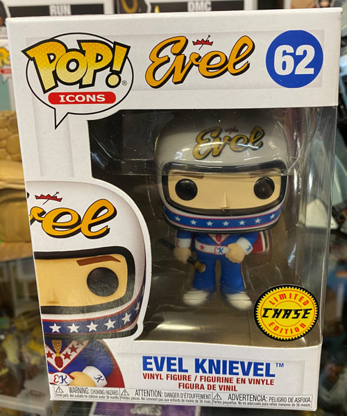 Evel Knievel - Evel Knievel with Helmet Chase Pop! Vinyl Figure