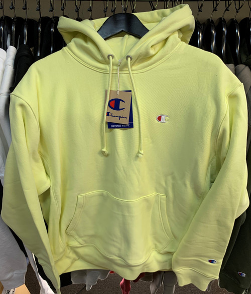 Champion Reverse Weave Lemon Yellow Hoodie Pullover Jersey