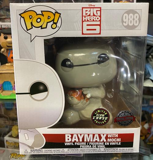 "Big Hero Six - Baymax with Mochi 6"" Super Sized Glow in the Dark Chase Pop! Vinyl Figure"