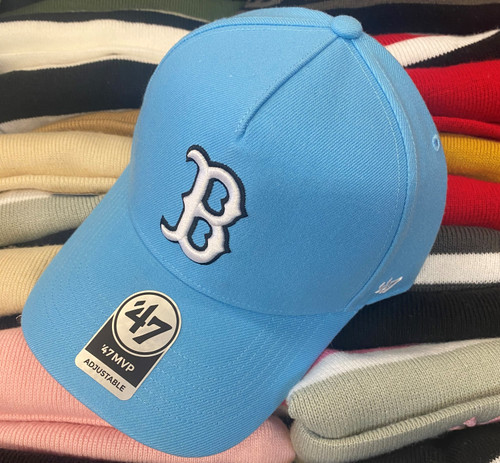 Boston Red Sox 47Brand Light Blue MVP DT Logo Snapback Hat