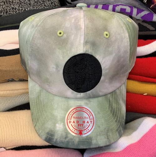 Boston Celtics Green Tie Dye Strapback Dad Hat