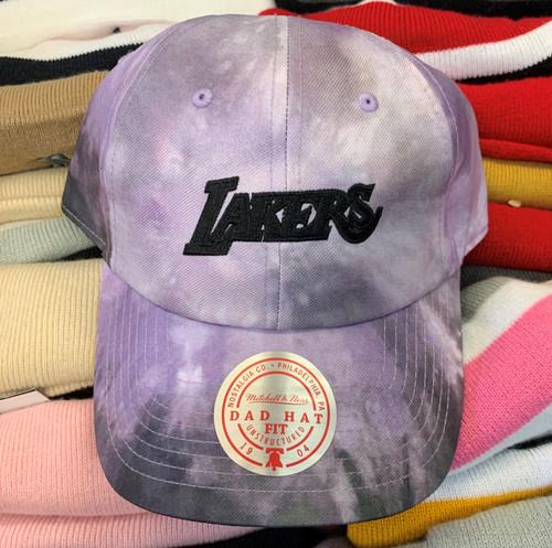 Los Angeles Lakers Purple Tie Dye Strapback Dad Hat