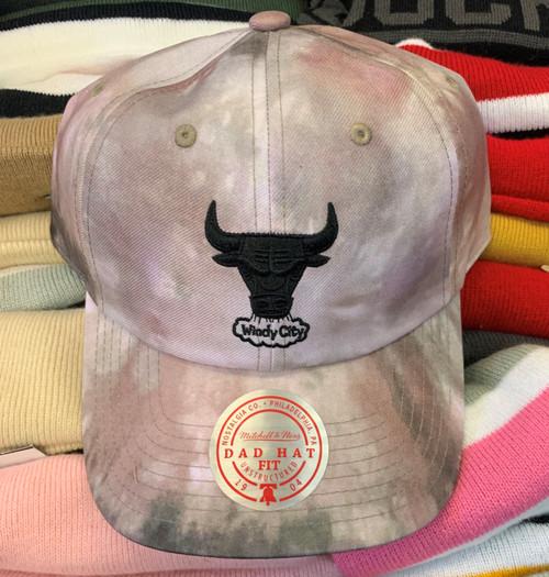 Chicago Bulls Tie Dye Strapback Dad Hat