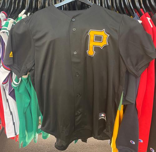 Pittsburgh Pirates MLB Majestic Mesh Button Up Baseball Jersey