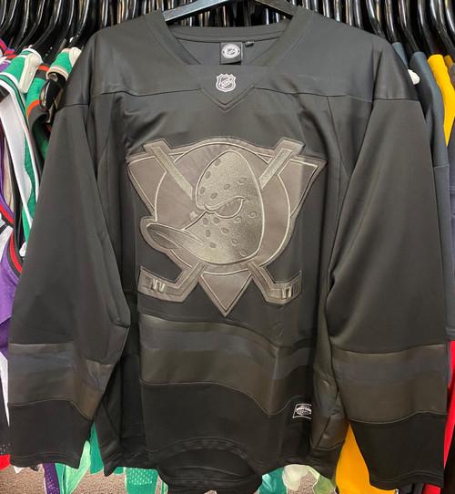 Mighty Ducks Blackout Majestic NHL Long Sleeve Jersey