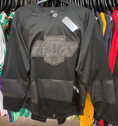 Los Angeles Kings Blackout Majestic NHL Long Sleeve Jersey