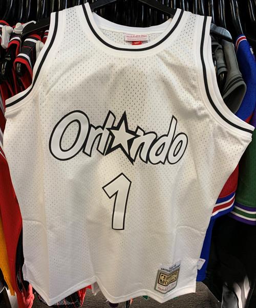 "Orlando Magic Anfernee ""Penny"" Hardaway 1 White & Black Mitchell & Ness Swingman Jersey"