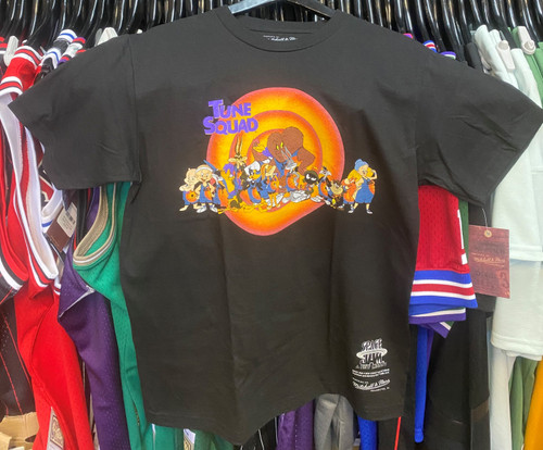 Space Jam Tune Squad Group Mitchell & Ness Black T-Shirt