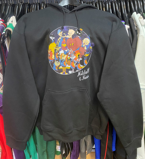 Space Jam Tune Squad Group Circle Mitchell & Ness Black Hoodie