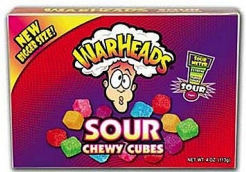 WarHeads Sour Chewy Cubes - 4.0oz Theatre Box