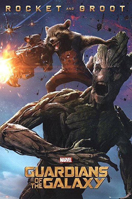 Guardians of the Galaxy Groot and Rocket Blockmount Wall Hanger