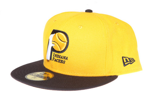 hot sale online f5bc7 fec93 ... Indiana Pacers Logo 2Tone Yellow and Navy Blue New Era 59FIFTY Fitted  Cap ...