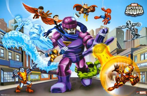 Marvel Superhero Squad Blockmount Wall Hanger Picture