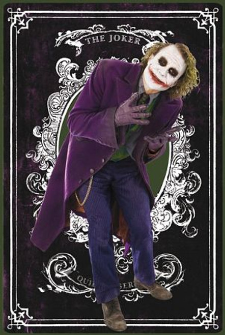 Joker Card Blockmount Wall Hanger Picture