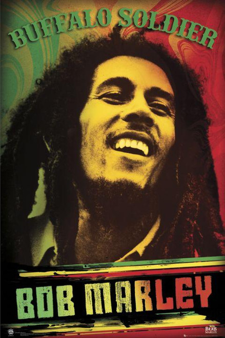 Bob Marley Buffalo Soldier Blockmount Wall Hanger