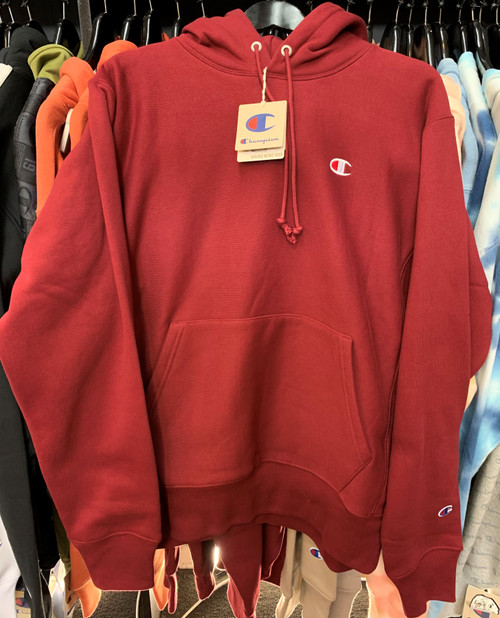 Champion Reverse Weave Maroon Hoodie Pullover Jersey