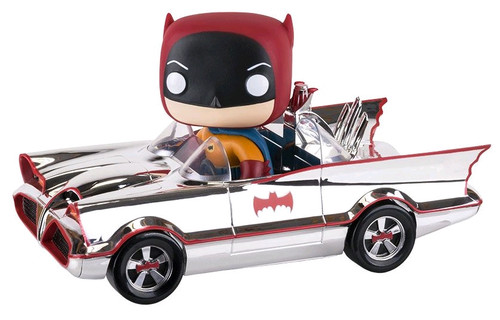 1966 Batmobile Chrome -Batman - SDCC Exclusive - Pop! Movies Vinyl Ride