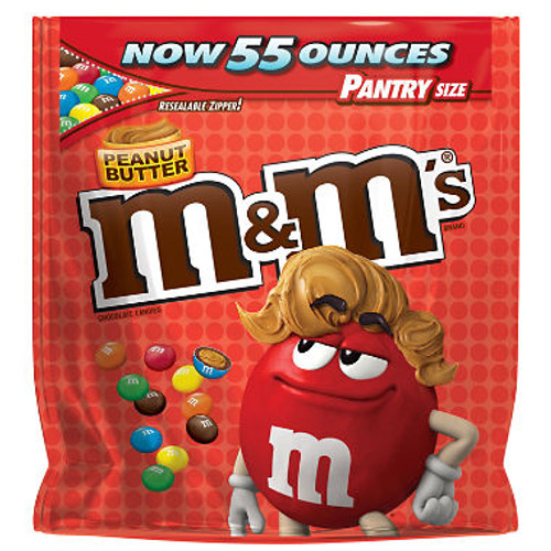 M&M's Peanut Butter - 55 oz Bag
