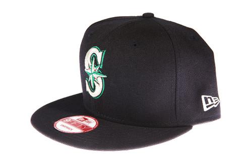 hot sale online f5937 035e3 Seattle Mariners Navy Blue New Era 9FIFTY MLB Snapback Hat