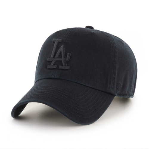 Los Angeles Dodgers Blackout 47Brand Blackout MLB Strapback Clean Up Hat