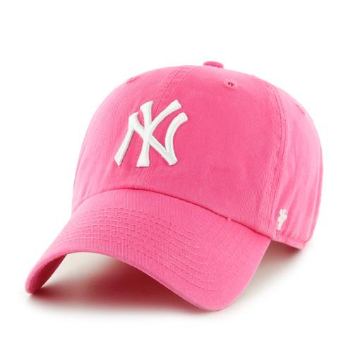 New York Yankees Pink 47Brand MLB Strapback Clean Up Hat