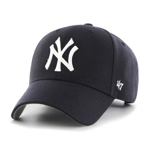 New York Yankees MVP Navy Blue 47Brand MLB Velcro Strapback Hat