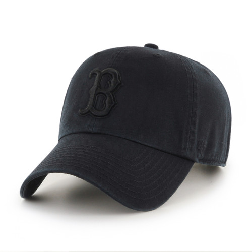 Boston Red Sox Blackout 47Brand MLB Strapback Clean Up Hat