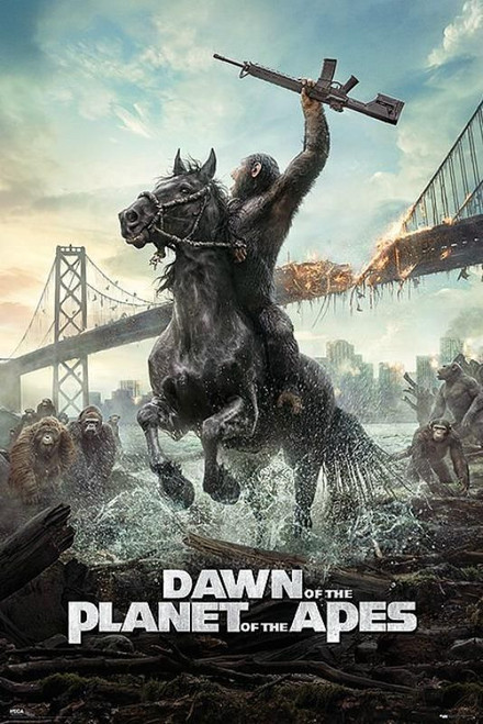 Dawn Of The Planet Of The Apes Blockmount Wall Hanger