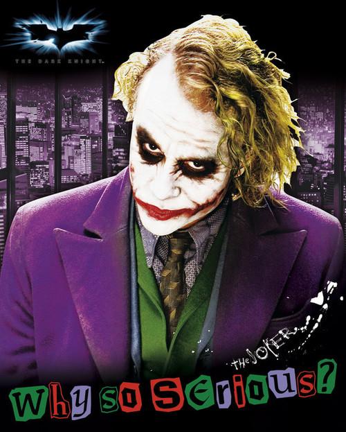 Joker - Why So Serious? Small Blockmount Wall Hanger