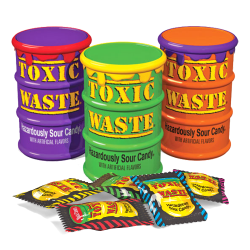 Toxic Waste Mystery Flavour Sour Candy - 1.7oz