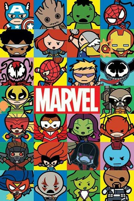 Marvel Kawaii Blockmount Wall Hanger